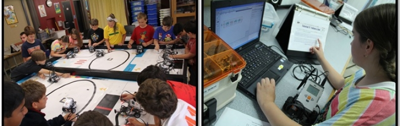 High Achieving NXT Robotics Campers!